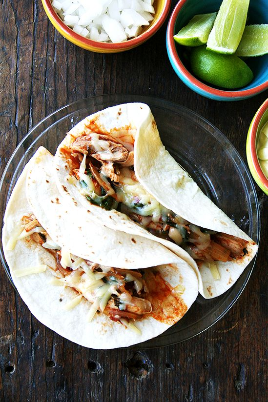 Chicken Tinga Tacos: