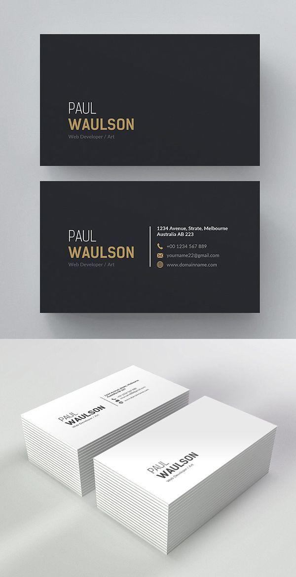 25 Minimal Clean Business Cards Psd Templates Design Graphic Design Junction Business Card Design Minimalist Business Cards Layout Graphic Design Business Card