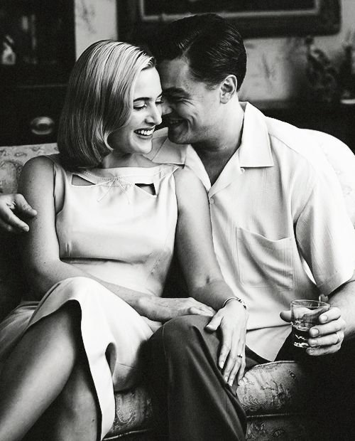 Kate Winslet & Leonardo DiCaprio on the set of, 'Revolutionary Road'.