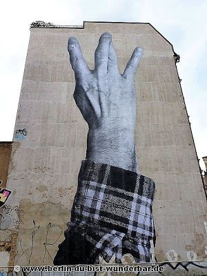 Street art Berlin #11 - The Wrinkles of the City von JR ~ Berlin du bist Wunderbar-Unbekannte Orte|Street art|Urbex