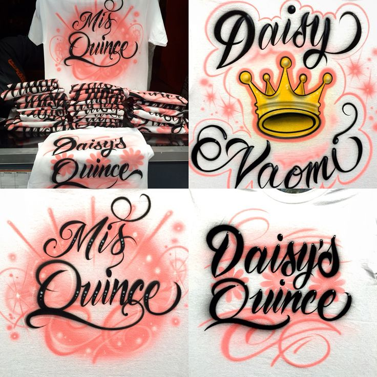 Quinceañera airbrush SHIRTs. Great For prevideos and baile sorpresa. We Even  match the color of your dress. Orders 323 456 5243