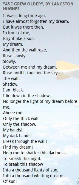 """As I Grew Older"", by Langston Hughes"