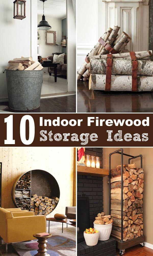 10 DIY ideas for decorative storage solutions for your firewood.