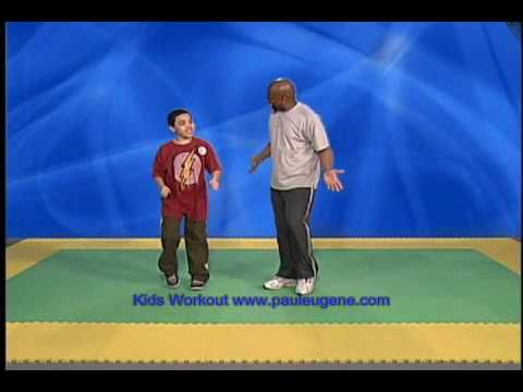Kids Workout with Paul Eugene - fun 10-minute video to get kids (and their adults) moving.  Kids did it with Daddy tonight and had a blast.