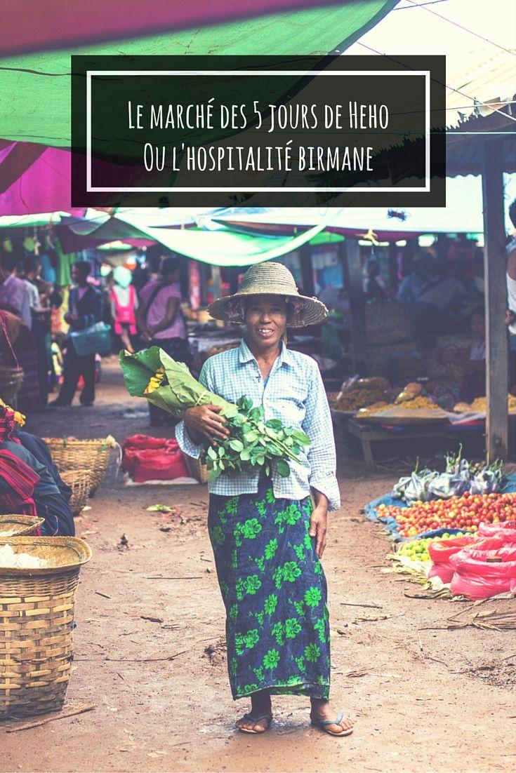 Près de #Kalaw en #Birmanie, nous avons visité le #marché des 5 jours de #Heho dans l'état #Shan. Loin des touristes, nous avons reçu une nouvelle preuve de l'incroyable #hospitalité #birmane.