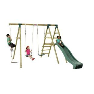 Buy Plum Giant Baboon Wooden Garden Swing Set with Slide at Argos.co.uk, visit Argos.co.uk to shop online for Activity centres