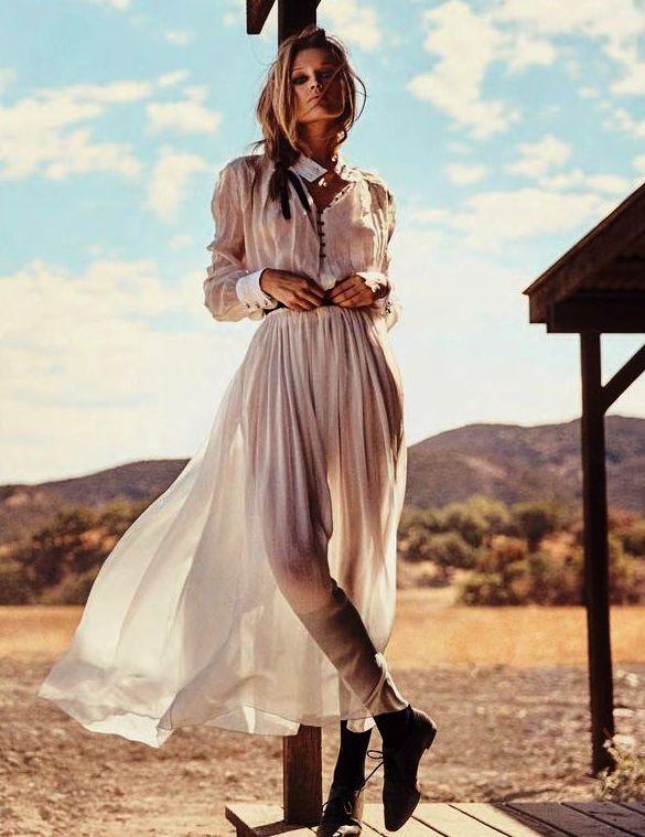 Prairie Rose: Toni Garrn for Porter No.7 Spring 2015 by Norman Jean Roy