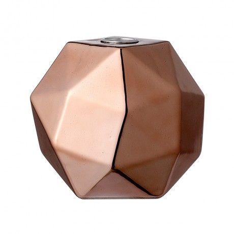 Copper Porcelain Candlestick Holder