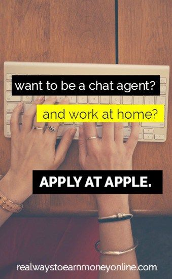 Want to be a chat agent and work at home? Apply at Apple.