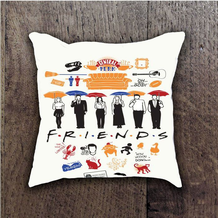 FRIENDS COLLAGE BATHROOM PILLOWS