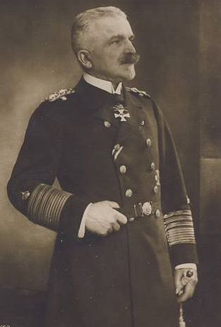 Admiral Hugo von Pohl --- He commanded the German High Seas Fleet from February 1915 until January 1916.