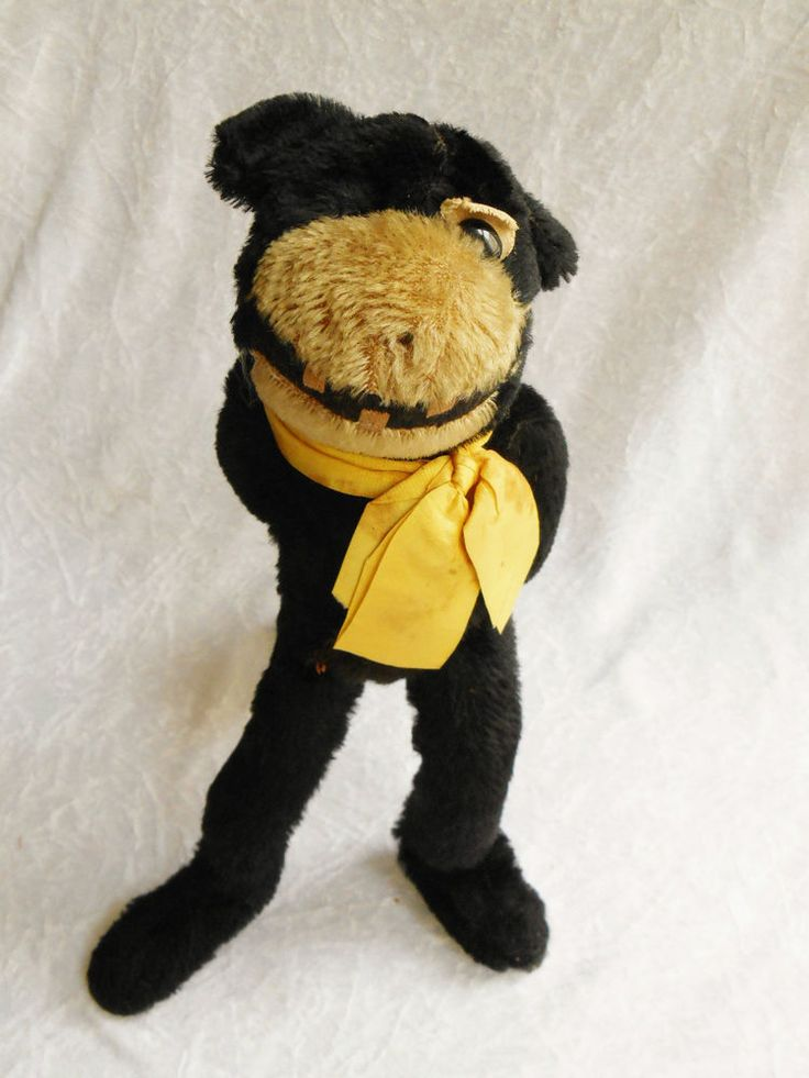 Details about RARE Antique 1920s Black Mohair FELIX THE CAT Farnell Teddy Bear Toy Walking 13 ...