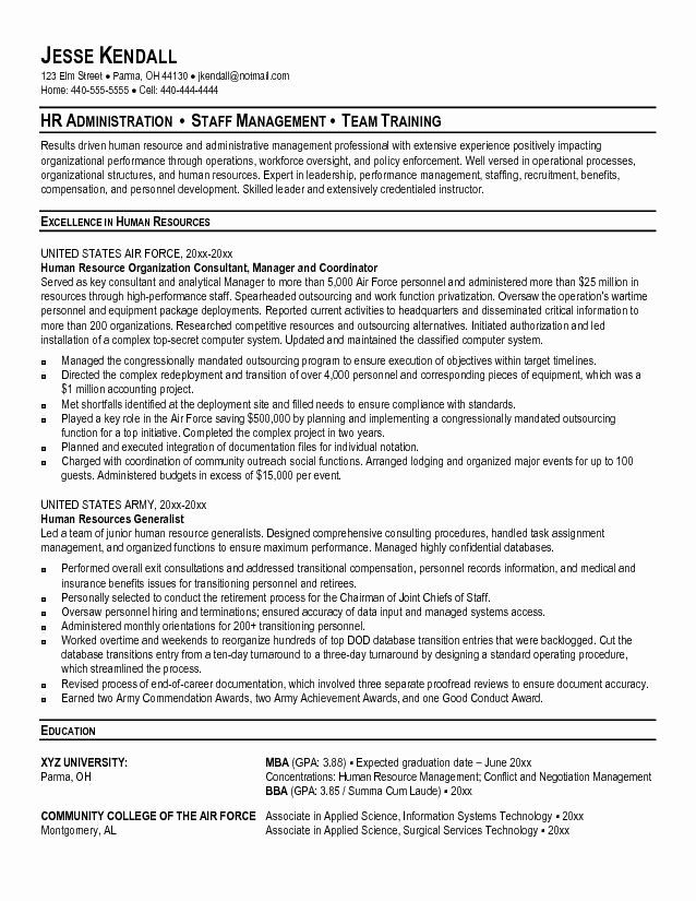 Military Resume Template Microsoft Word Luxury 9 10 Military Leadership Resume Examples In 2020 Resume Examples Human Resources Resume Recruiter Resume