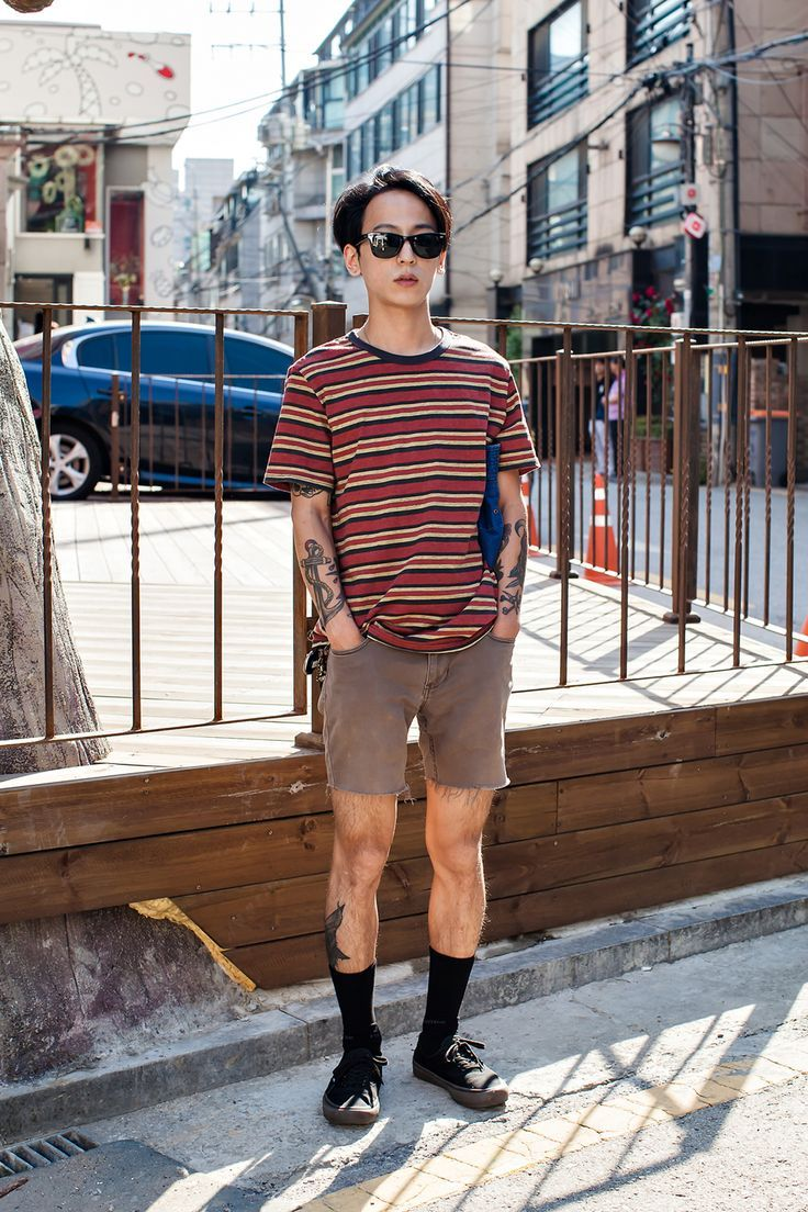 TOP | BRIXTON PANTS | VANS SHOES | VANS Street Style Jang Woohyuk, Seoul - mens shoes online shopping, cheap mens black shoes, best mens dress shoes