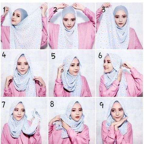 Beautiful Hijab Tutorial For Summer