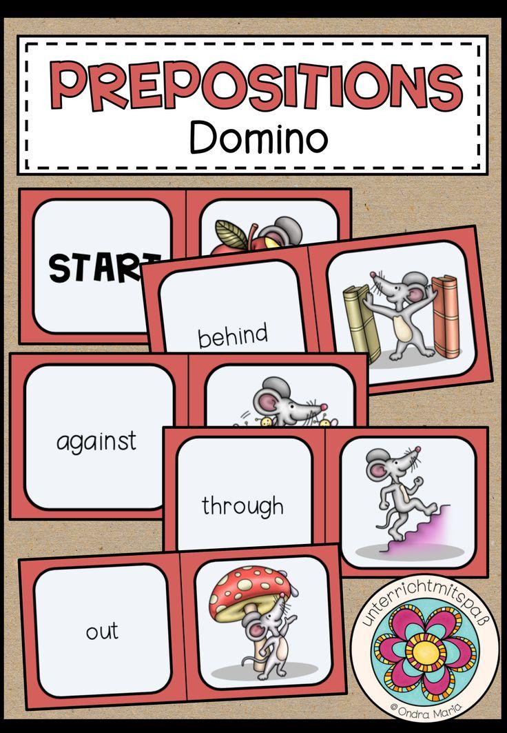 Prepositions - Domino - Unterrichtsmaterial im Fach