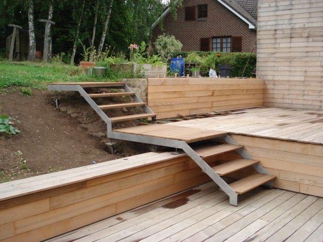 escalier jardin extérieur talu | preview