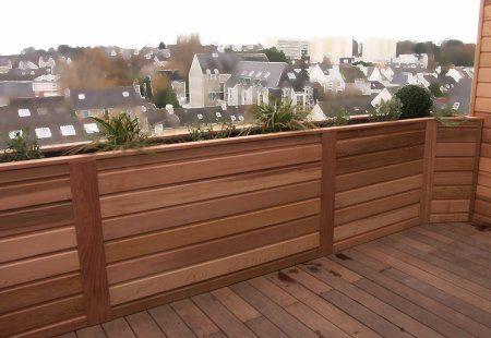 Bac A Fleurs En Red Cedar Balcon Terrasse Patio Fence Rooftop