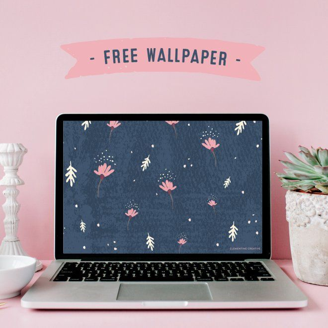 Free Wallpaper Dainty Falling Flowers Free Wallpaper Wallpaper Navy Wallpaper