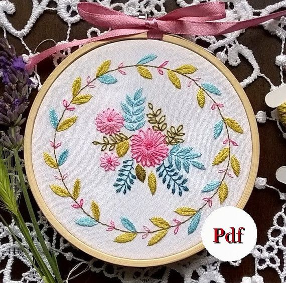 embroidery pattern pdf - Traditional embroidery kit -  Embroidery pattern - embroidery hoop art - Summer time -