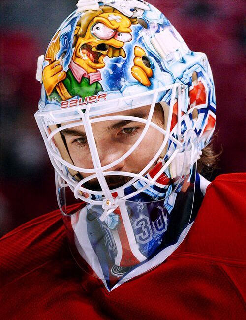 Peter Budaj and the lighter side of his mask