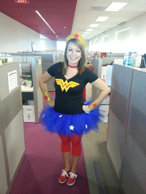 DIY Wonder Woman costume! Possible costume for mud run
