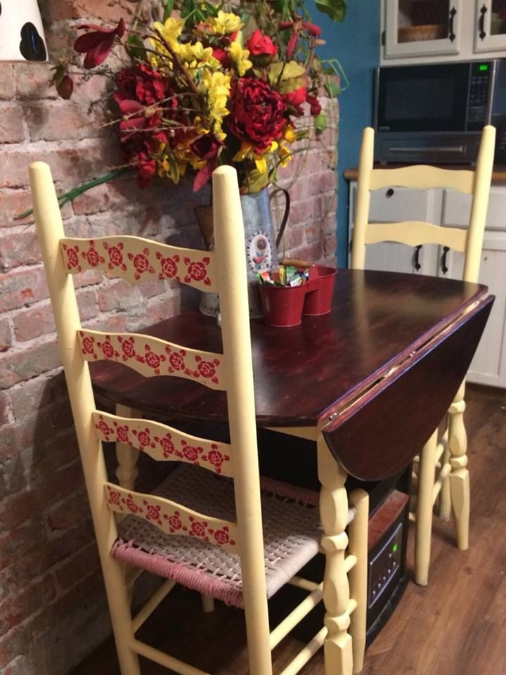 This thrifted kitchen furniture has seen LOTS of changes over the years.