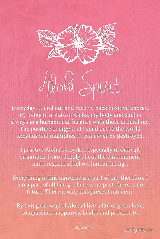 Affirmation - Aloha Spirit by CarlyMarie