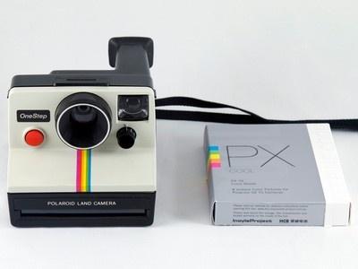Polaroid One Step SX 70 White Rainbow Stripe Instant Land Camera w Film Tested 074100086721 | eBay