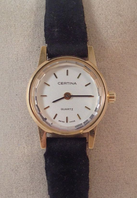Certina for women Gold ladies watch vintage by StonebrookVintage
