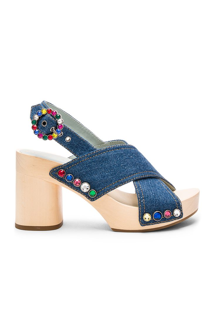 Marc Jacobs Linda Criss Cross Clog in Denim