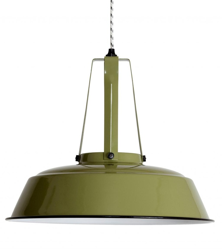 Industriële lamp Workshop L Leger Groen - HK Living - Lampen van LiL.nl