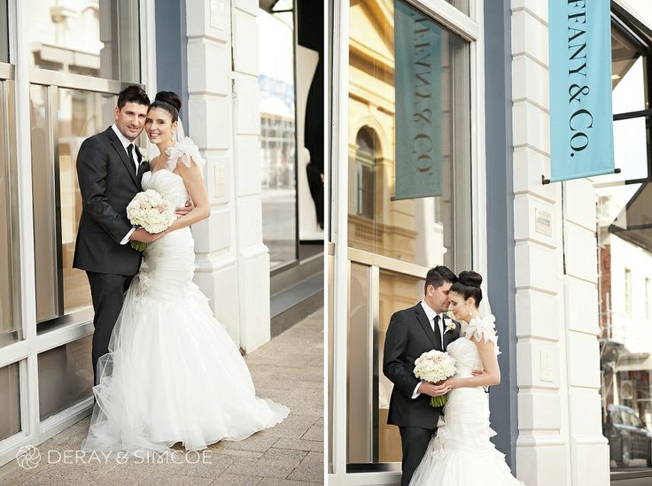 Wedding photos at Tiffany & Co  Location ~ King Street, Perth  Photography by DeRay & Simcoe