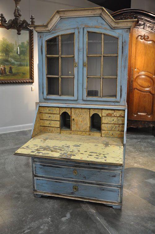P12 012 Swedish Drop Front Secretary 1st Quarter 19th Century 41 Statement Pieces Pinterest Paint Furniture Desks And
