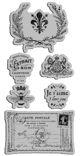 Graphic 45 - Hampton Art - French Country Collection - Cling Mounted Rubber Stamps - French Country Three at Scrapbook.com $10.99