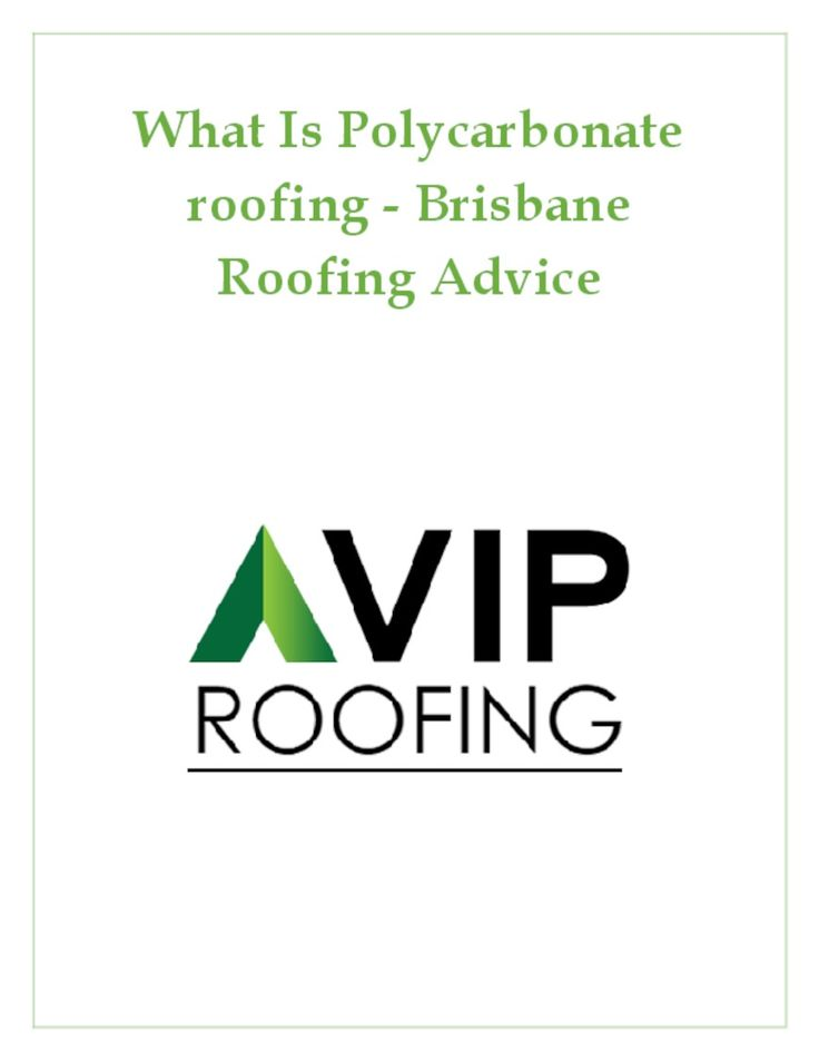 What Is Polycarbonate roofing - Brisbane Roofing Advice