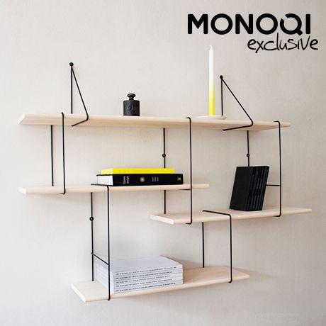 Nifty modular hanging shelving system by Studio Hausen for Monoqi.
