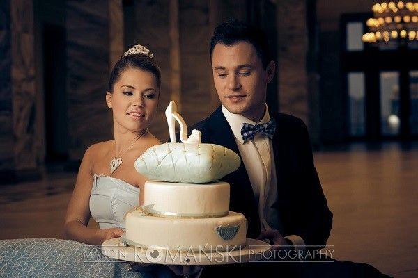 Panna Młoda jako Kopciuszek, tort ślubny w stylu Kopciuszka