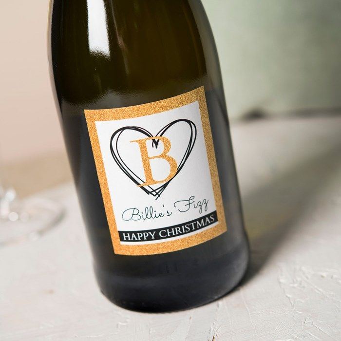 Personalised Prosecco - Heart Initial | GettingPersonal.co.uk