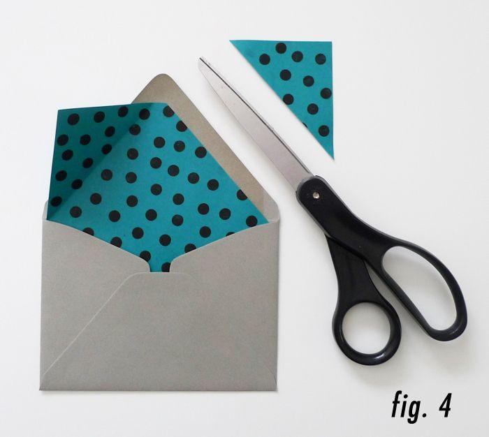 DIY patterned envelope liners
