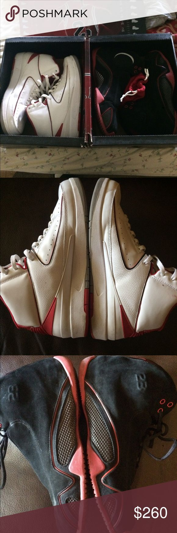 Jordan 21/2 Collezione Pack Jordan 21/2 Collezione Pack released in 2008. Shoes are in excellent condition 8.5/10. Only minor creasing on toe box of 2s. I have original Eastbay receipt. Size 14 Jordan Shoes Sneakers