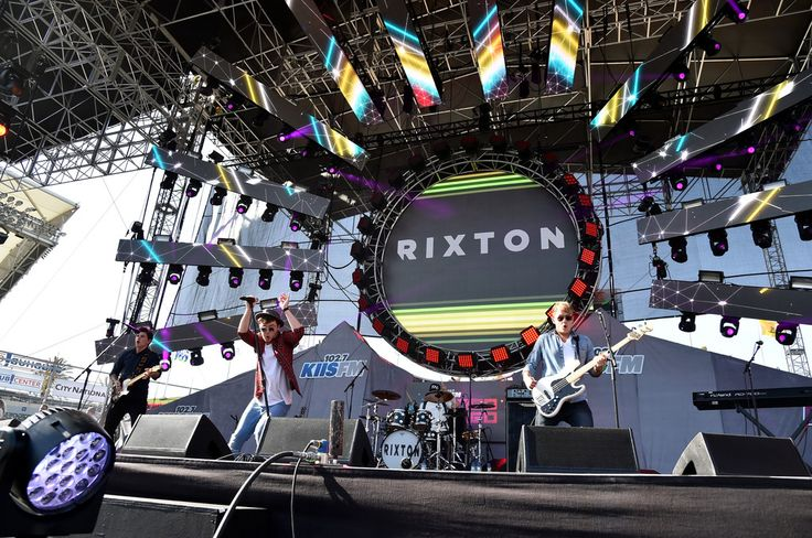 (L-R) Musicians Charley Bagnall, Jake Roche and Danny Wilkin of Rixton perform during 102.7 KIIS FM's 2014 Wango Tango at StubHub Center on May 10, 2014 in Los Angeles, California.