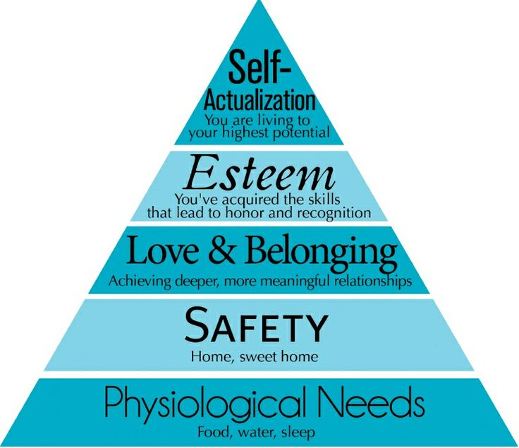 this chart comes from abraham maslow u0026 39 s concept of hiearchy