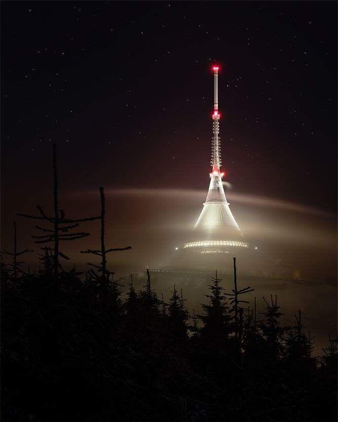 Ještěd TV Tower in Liberec/  #czech #liberec #czech #czechrepublic #trip #jested #with #friends #instaphoto #picoftheday Photo by Tomáš Culka