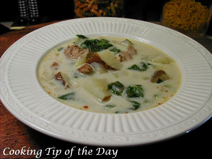 Cooking Tip of the Day: Zuppa Toscana