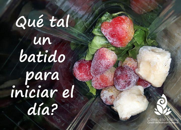Batido de fresas con espinacas - Coach Consuelo