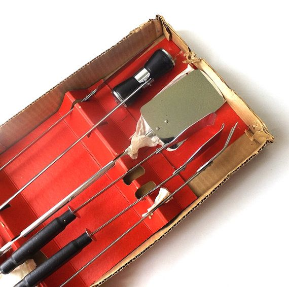vintage 1960's NOS bbq utensil set 5 pieces by RecycleBuyVintage