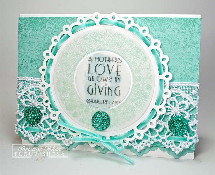 I love the lace and the doily and the color pallet!