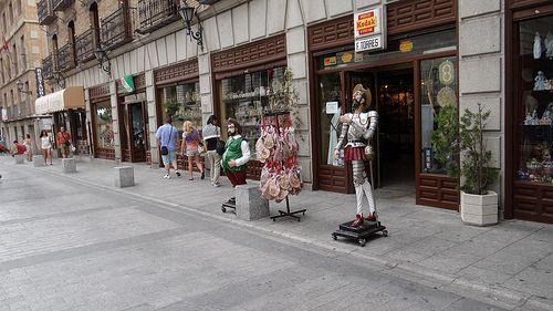 Don Quijote y Sancho en Toledo en mi Euroviaje