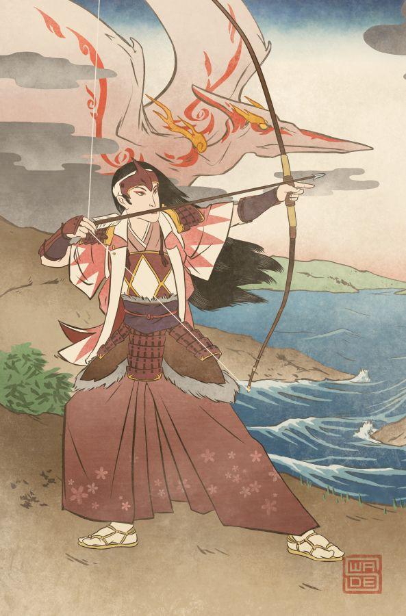 Ukiyo-e Pink Ranger - MMPR Comic Variant Cover by swadeart on DeviantArt